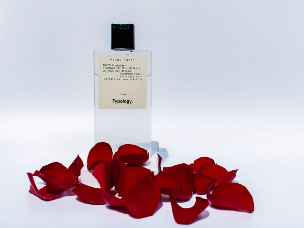 Typology niacinamide toner solution 7% with rose petals